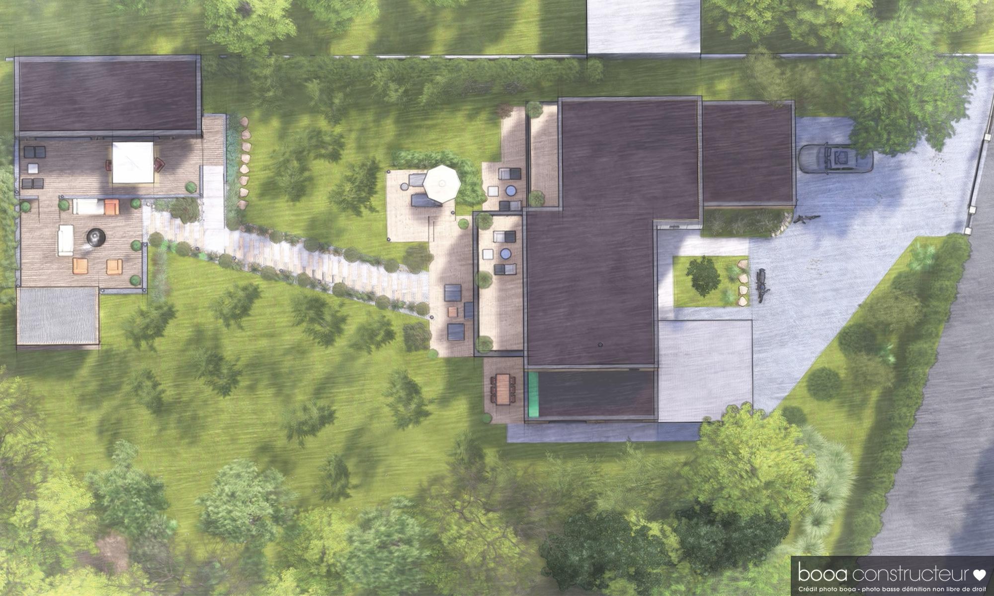 plan de masse de la maison