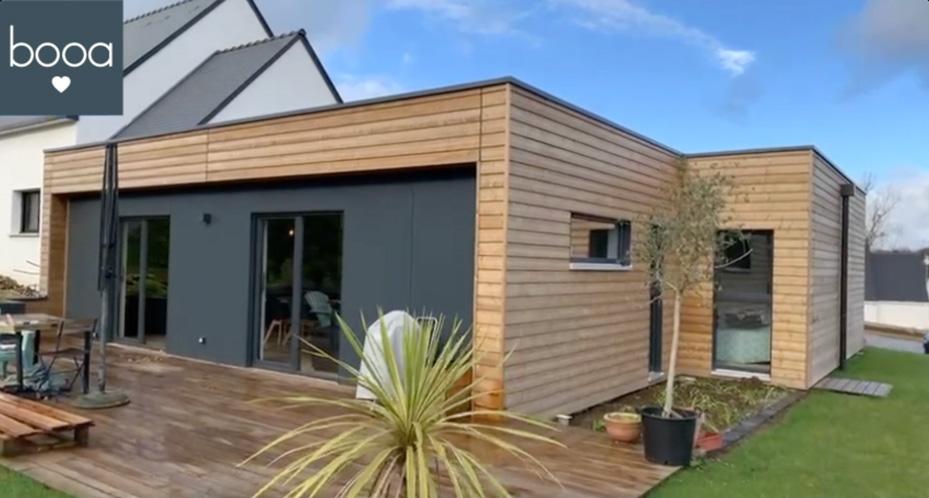 maison bois dans le Morbihan